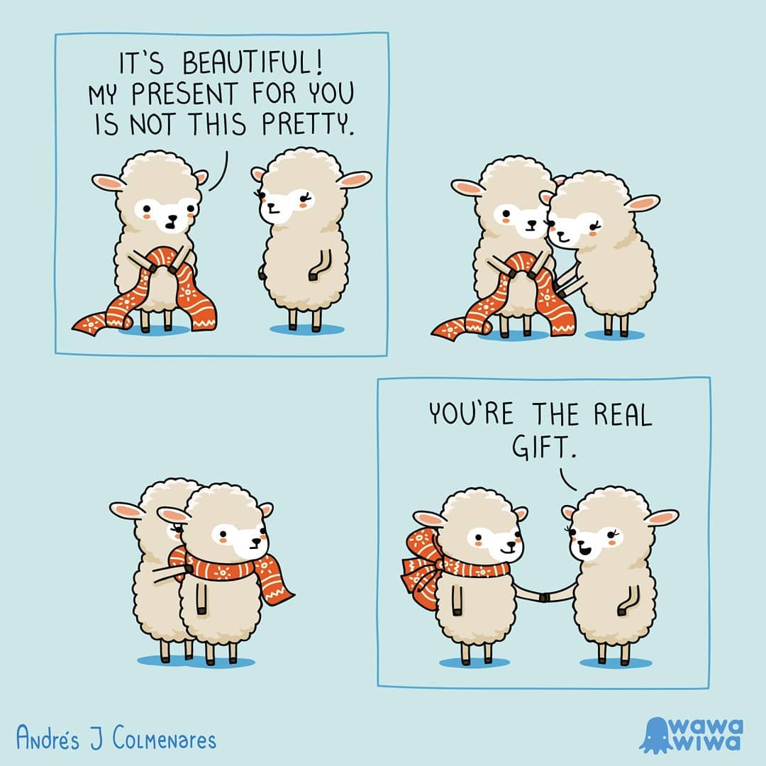 comic of sheep's loving each other