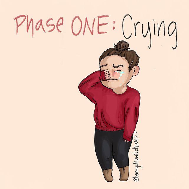 comics of a girl crying