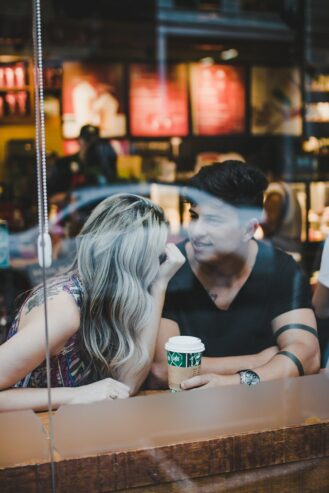 couple inside a coffee shop